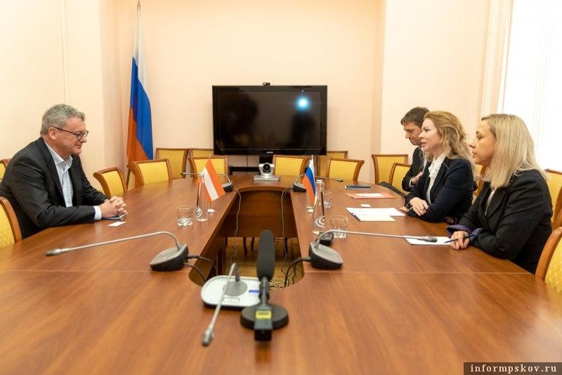 Развивать сотрудничество с Австрией намерены власти Псковской области