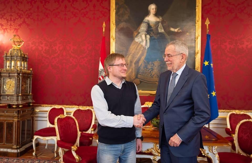 Директор Госархива Псковской области встретился с президентом Австрии — потомком псковского губернатора